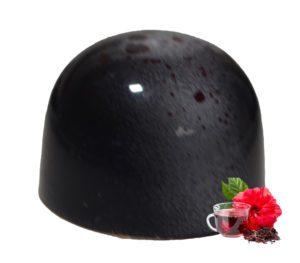 Ganache z herbatą z hibiskusa w ciemnej czekoladzie