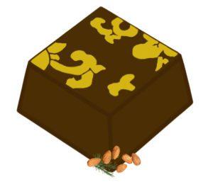 Pralina migdałowa z rozmarynem i mleczną czekoladą
