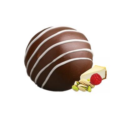 """Trufla-""""Cheesecake"""" malina z pistacjami"""